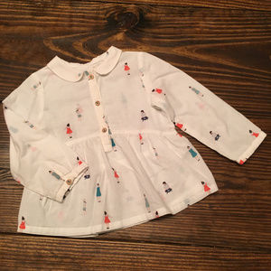 Zara BabyGirl Long Sleeve Printed Blouse